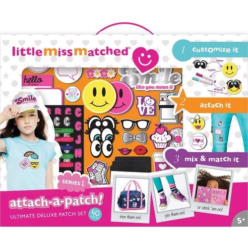 LittleMissMatched Attach-A-Patch Deluxe Patch Set - 40 Piece
