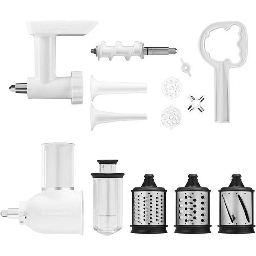 KitchenAid Power Hub Attachment Pack for KitchenAid Stand Mixers (Slicer/Shredder and Grinder Sausage Stuffer)