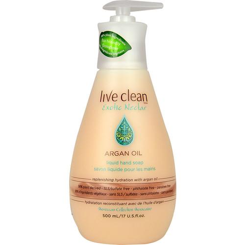 Live Clean Exotic Nectar Argan Oil Liquid Hand Soap -- 17 fl oz