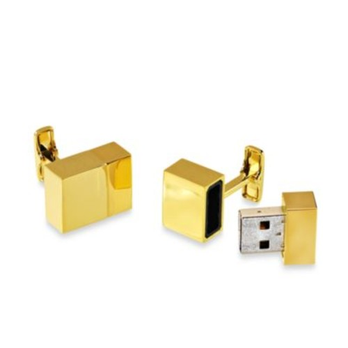 Gold-plated 2GB USB Flash Drive Cufflinks