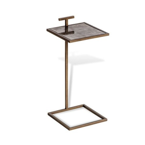 Soren Square Drink Table in Brown Vellum design by Interlude Home