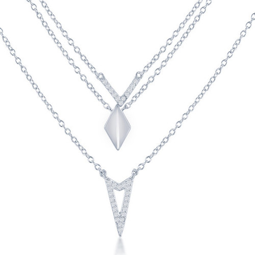 La Preciosa Sterling Silver Triple-strand Necklace