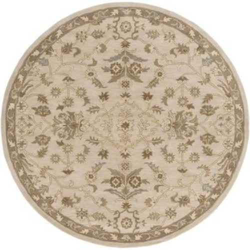 Artistic Weavers Zari Beige 8 ft. x 8 ft. Round Indoor Area Rug