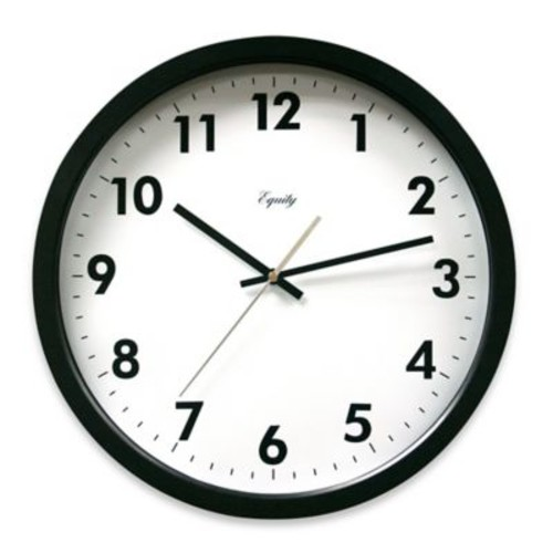 La Crosse Technology Commercial Analog Clock in Black