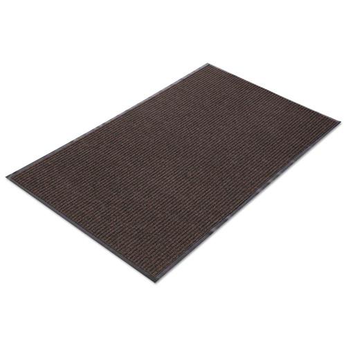 Crown Needle Rib Wipe & Scrape Mat, Polypropylene, 36 x 120, Brown