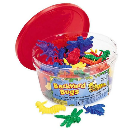 Learning Resources Backyard Bugs Counters, Set of 72