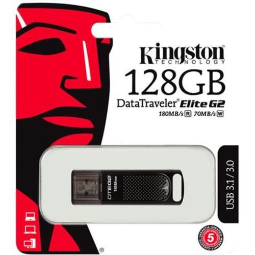 Kingston Technology DataTraveler Elite G2 128GB USB 3.1/3.0 Metal Flash Drive