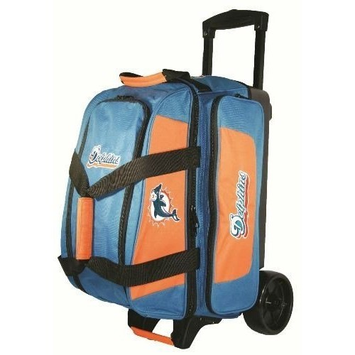 KR Strikeforce Miami Dolphins Double Roller Bowling Bag, Multicolor