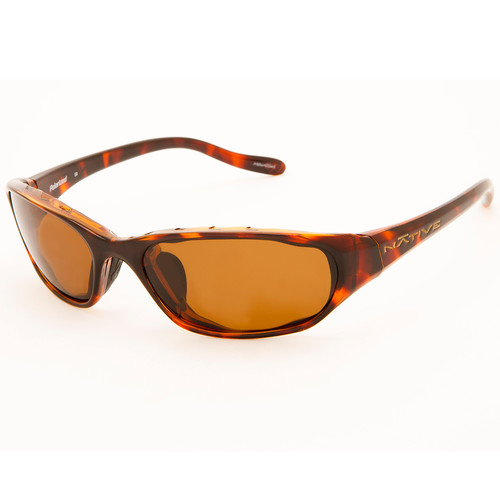 NATIVE EYEWEAR Throttle Sunglasses, Maple Tort/Brown
