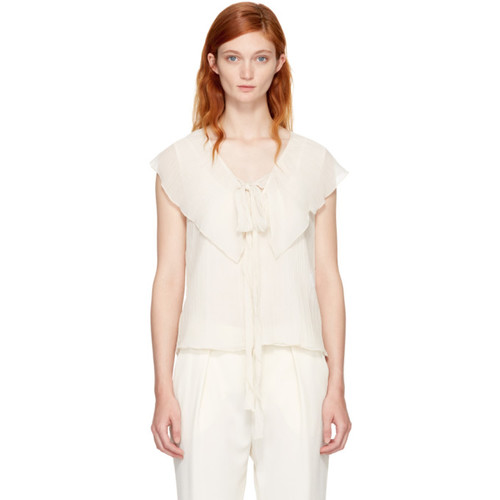 SEE BY CHLOÉ Off-White Ruffle Tank Top