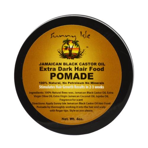 Sunny Isle 4-ounce Extra Dark Jamaican Black Castor Oil Hair Food Pomade