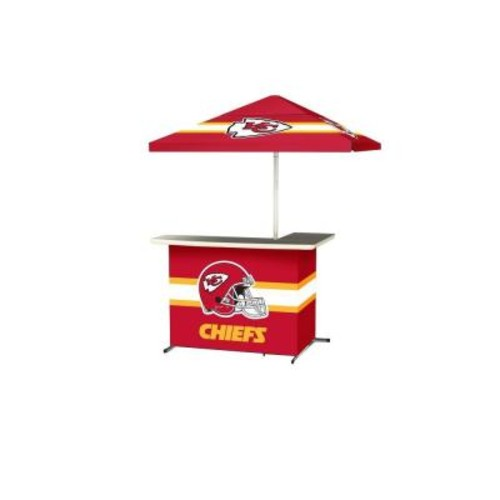 Best of Times Kansas City Chiefs All-Weather L-Shaped Patio Bar with 6 ft. Umbrella