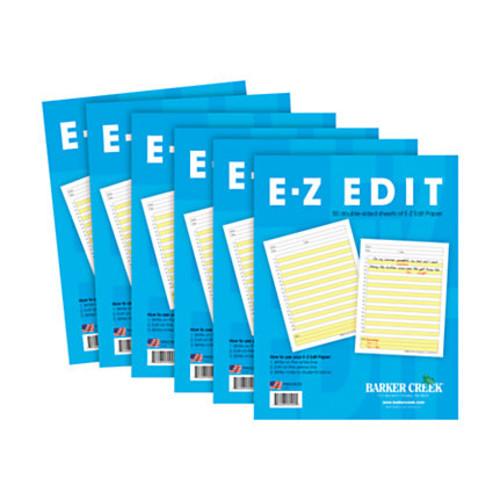 Barker Creek E-Z Edit Paper Set, Grades 1-College, 50 Sheets, Pack Of 6