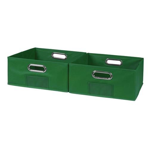 Niche Cubo 12 in. x 6 in. Green Folding Fabric Bin (2-Pack)