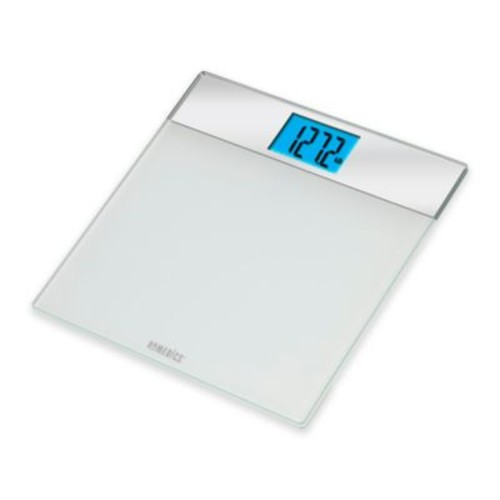 HoMedics Mirrored Glass Digital Bath Scale in White