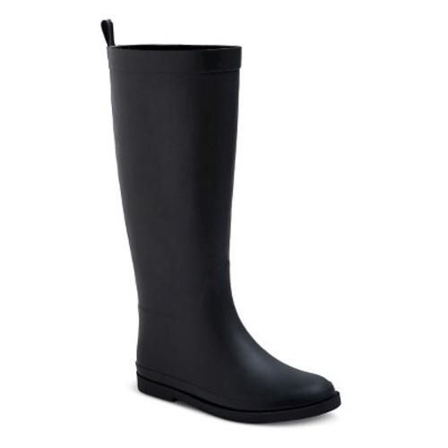 Girls' Tall Matte Rain Boots 2 - Cat & Jack - Black