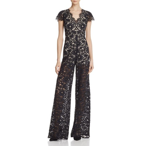 ALICE AND OLIVIA Mariam Lace Jumpsuit
