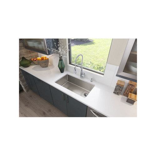 Elkay Crosstown Undermount Stainless Steel 32 in. Single Bowl Kitchen Sink