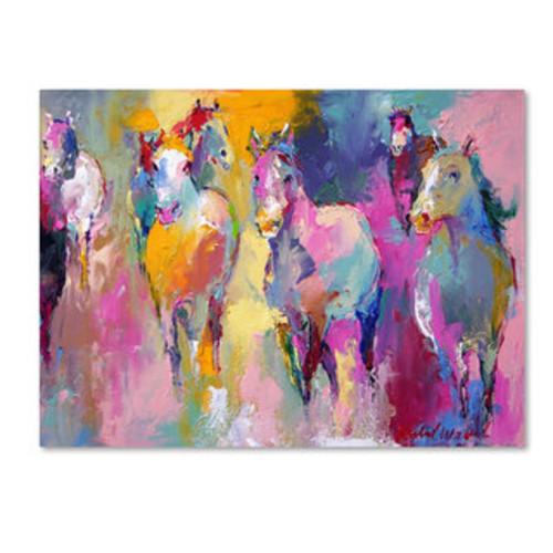 'Running Horses' Oil on Canvas Art