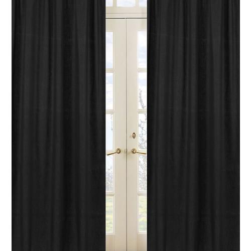 Sweet Jojo Designs Minky Dot Black Collection Window Panels