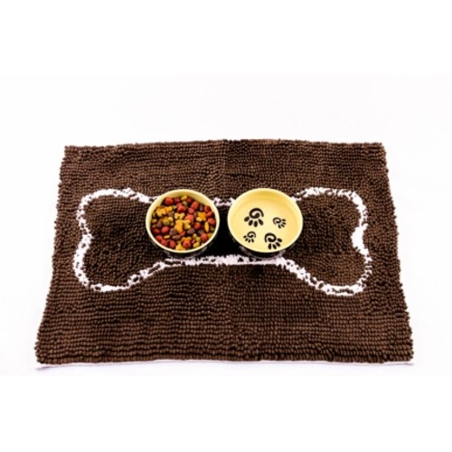 The Grommet Soggy Doggy 18 x 24 in. For Dog Mat Brown