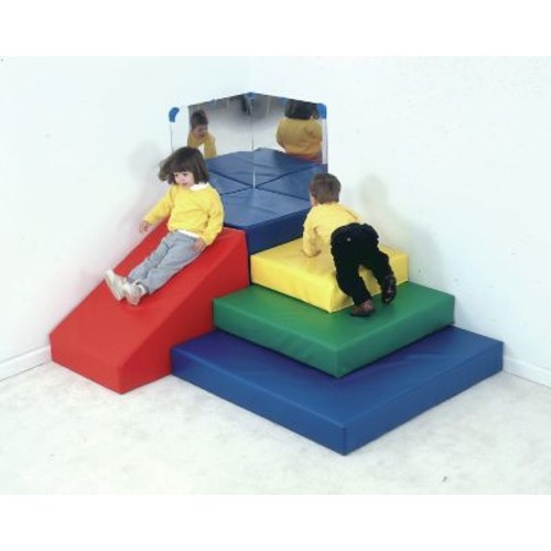 Children's Factory Primary 5 Piece Toddler Pyramid Play Center Set