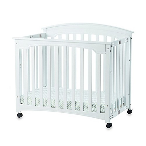 Child Craft Wadsworth Folding Mini Crib in Matte White