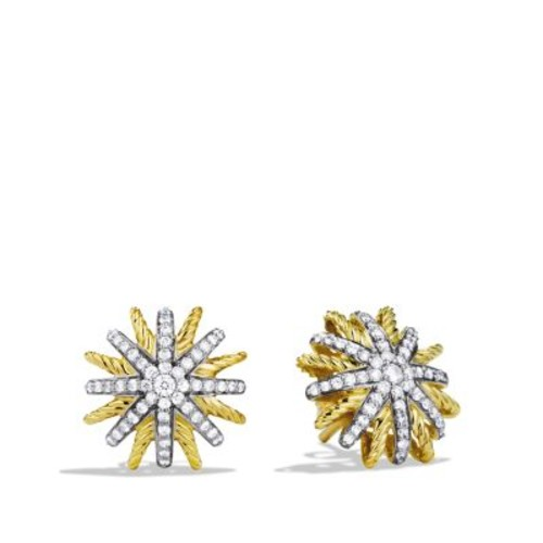 Starburst Extra Small Earrings with Diamonds in G
