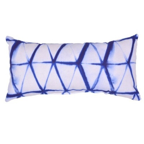 Outdoor Throw Pillow Lumbar - Shibori Diamond - Threshold