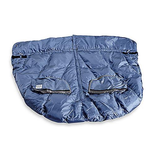7 A.M. Enfant DUO Double Stroller Blanket in Metallic Steel Blue