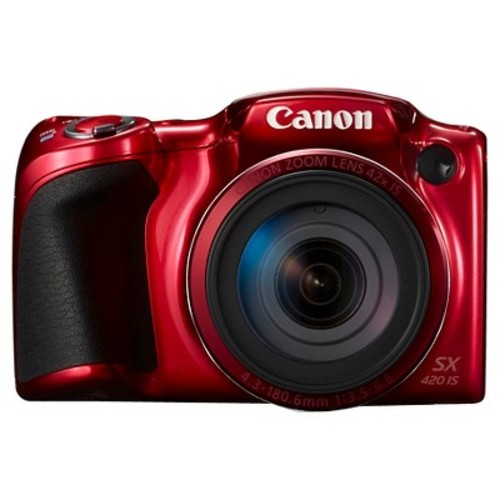 Canon 20MP PowerShot SX420 IS Digital Camera - Red
