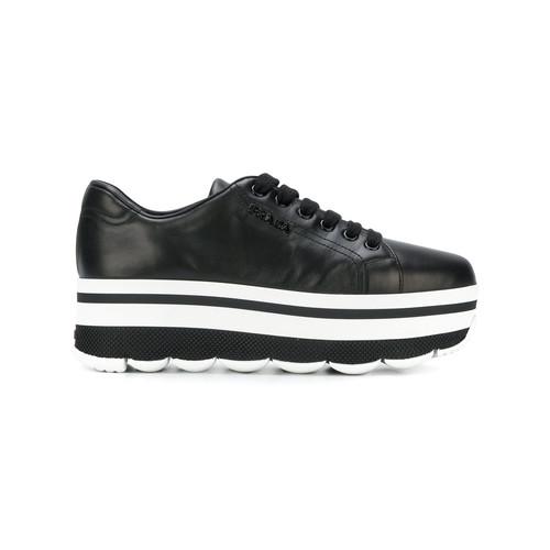waved sole platform sneakers
