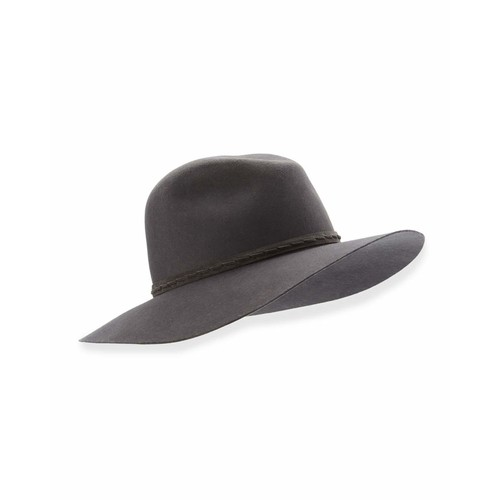 RAG & BONE Wide-Brim Wool Felt Fedora Hat, Brown