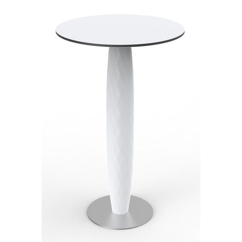 Vases Round Bar Table [Finish : Basic White]