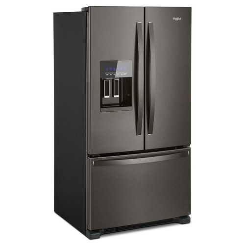 Whirlpool 24.7-cu ft French Door Refrigerator with Single Ice Maker (Black Stainless Steel) ENERGY STAR