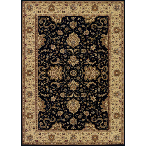 Couristan Izmir 7016 1000 Floral Bijar Ebony Rug - 7 ft 10 in x 11 ft 2 in