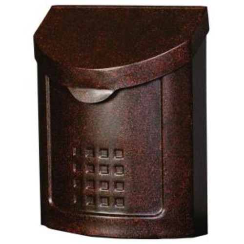 Gibraltar Mailboxes Lockhart Locking Steel Vertical Wall-Mount Mailbox, Aged Copper
