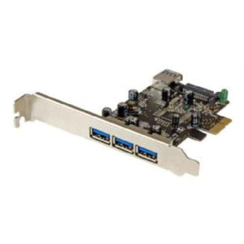 StarTech.com 4-port PCI Express USB 3.0 Card - USB adapter - PCI Express 2.0 x1 low profile - USB 3.0 x 4 (PEXUSB3S42)