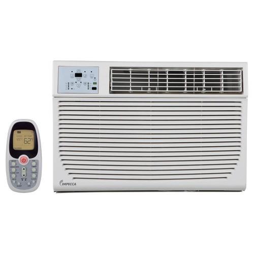 Impecca 12,000 BTU 230-Volt/208-Volt Window Air Conditioner with Cool, Supplemental Heat and Remote