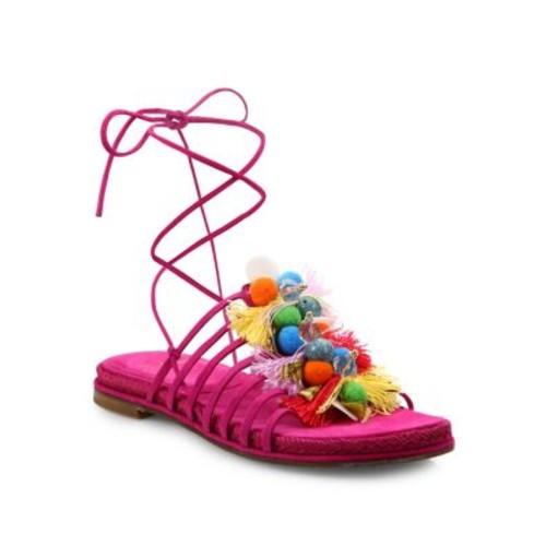 Noodles Embellished Suede Sandals
