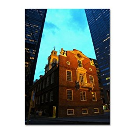 Boston by CATeyes, 14 by 19-Inch Canvas Wall Art [14 by 19-Inch]