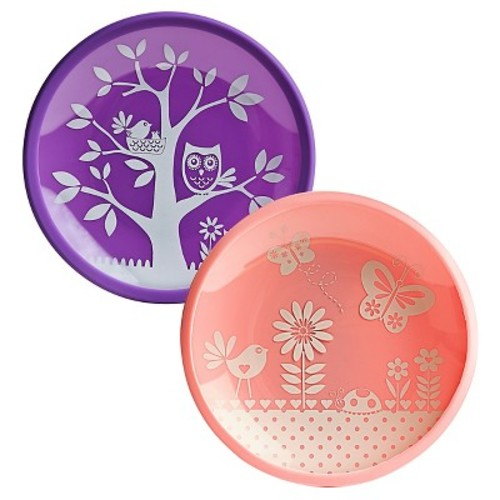 Brinware Silicone with Tempered Glass Dish Set - Garden Party