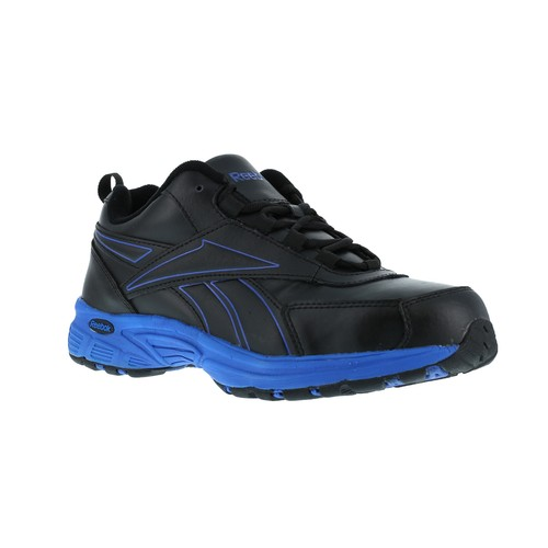 Reebok Work Men's Ateron Steel Toe Performance Cross Trainer RB4830 Wide Width Available - Black/Blue [Width : Medium]
