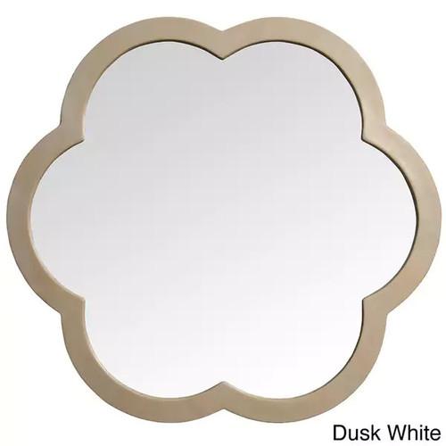 'Flora' White Resin Mirror [option : dusk white]