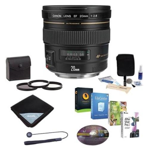 Canon EF 20mm f/2.8 USM Lens/Filter Bundle, USA 2509A003 NK