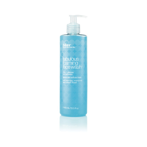 bliss fabulous foaming face wash super-sized