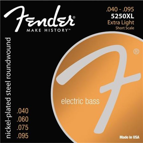 Fender 5250XL Extra Light Electric Bass Guitar Strings, Set of 4 Strings 0735250402