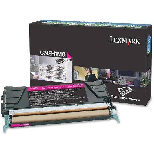 Lexmark C748 Magenta High Yield Return Program Toner Cartridge - Lexmark - C748H1MG