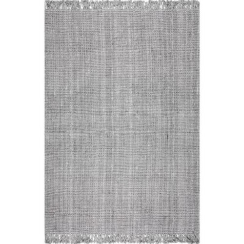 nuLOOM Chunky Loop Jute Grey 4 ft. x 6 ft. Area Rug