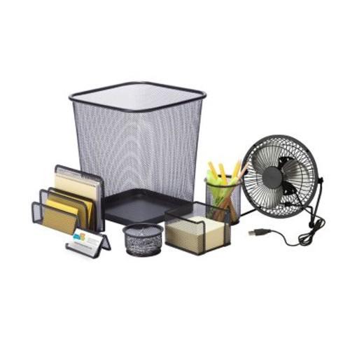 Honey Can Do Desk Essentials Set, Black ( OFCX06821 )
